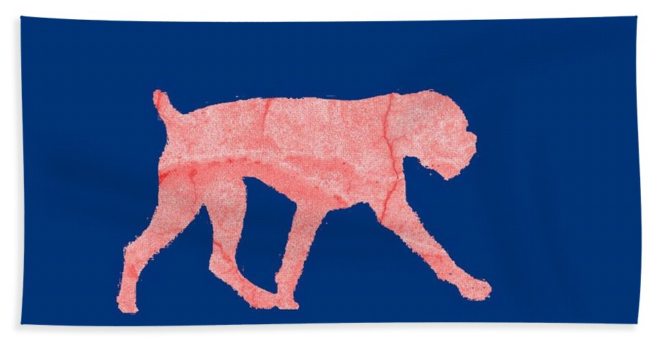 Red Hand Towel featuring the digital art Red Dog Tee by Edward Fielding