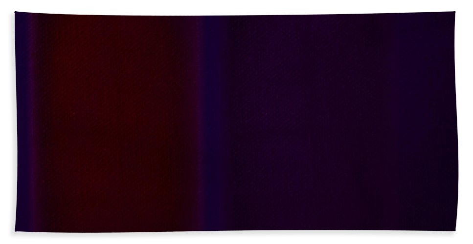Rothko Hand Towel featuring the painting Red On Blue by Charles Stuart