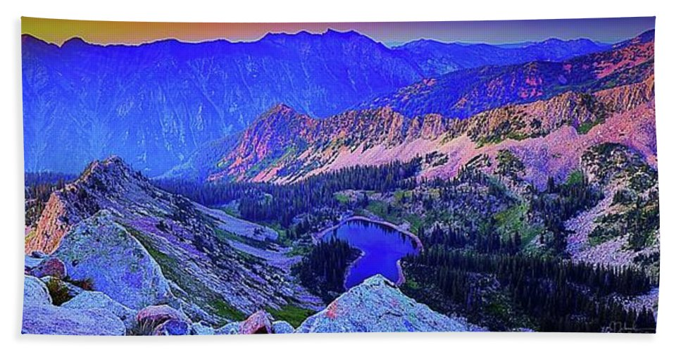 Red Pine Bath Sheet featuring the photograph Red Pine Panorama by James Zebrack