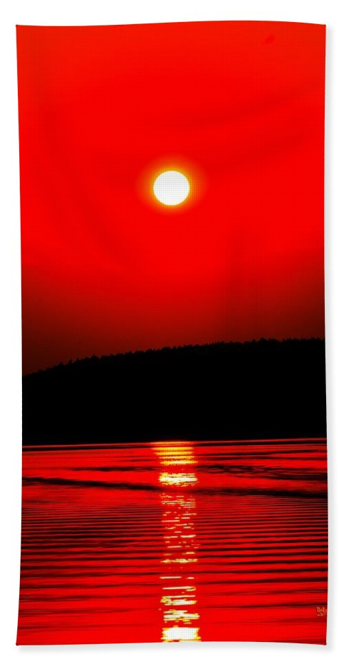 Emotion Hand Towel featuring the photograph Red Power by Max Steinwald