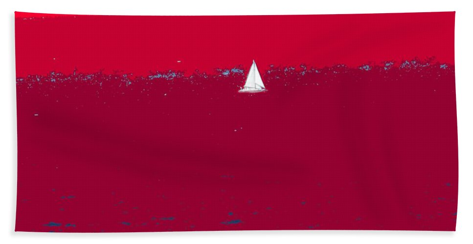 St Kitts Bath Towel featuring the photograph Red Sea by Ian MacDonald