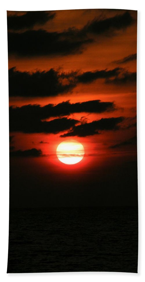 Nature Bath Sheet featuring the photograph Red Sky At Morning by Kimberly Mohlenhoff