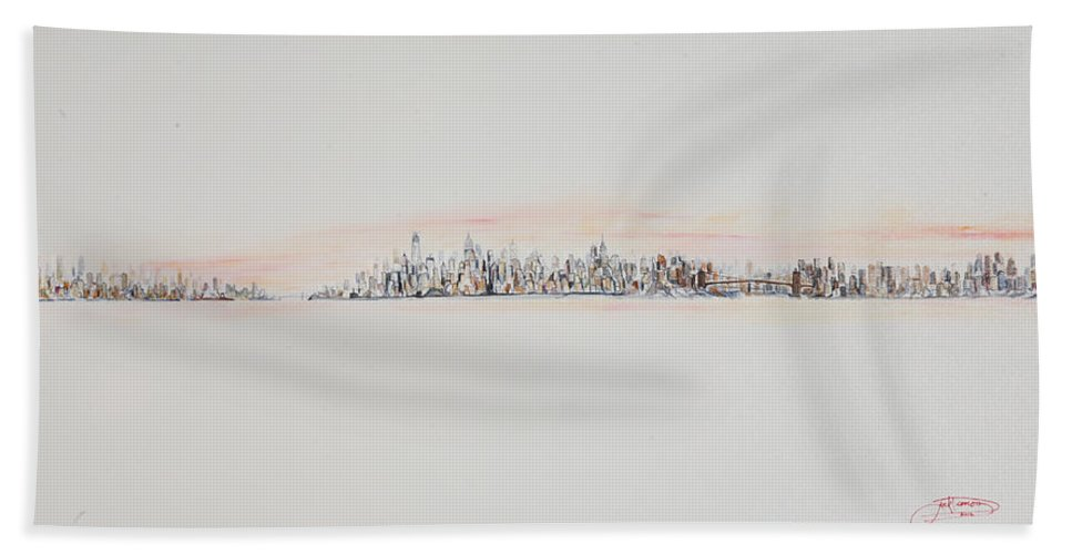 Jack Diamond Bath Sheet featuring the painting Red Sky by Jack Diamond