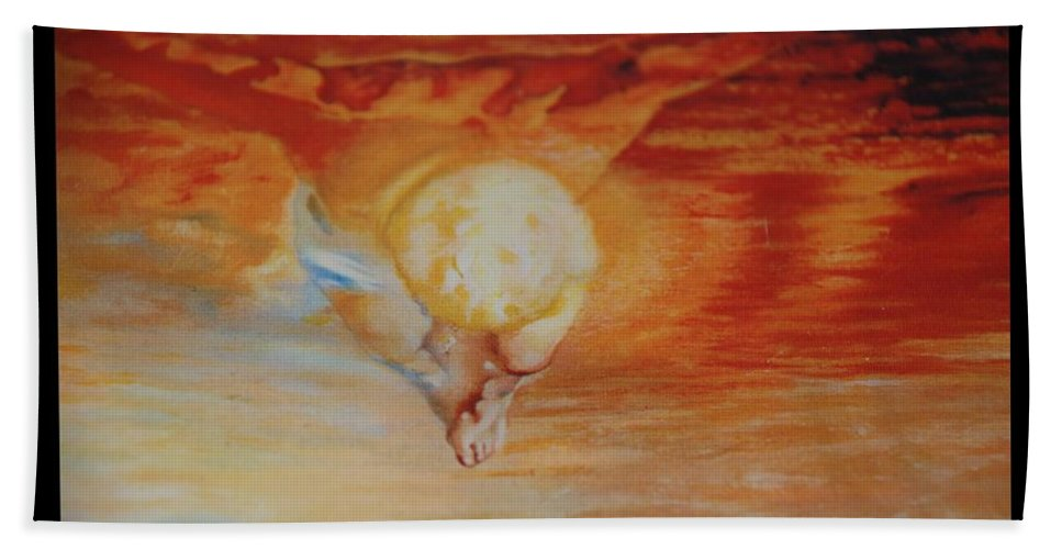 Angels Hand Towel featuring the photograph Red Sky by Rob Hans