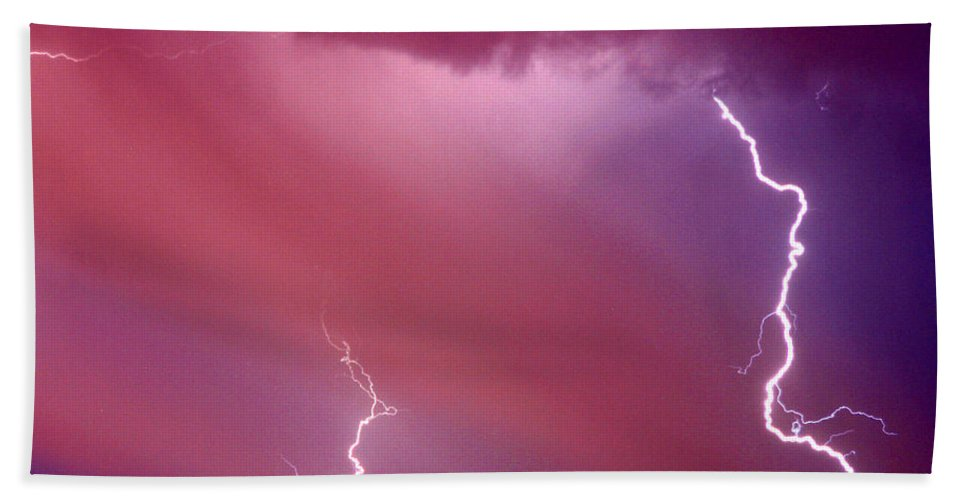 Sky Hand Towel featuring the photograph Red Storm by Anthony Jones