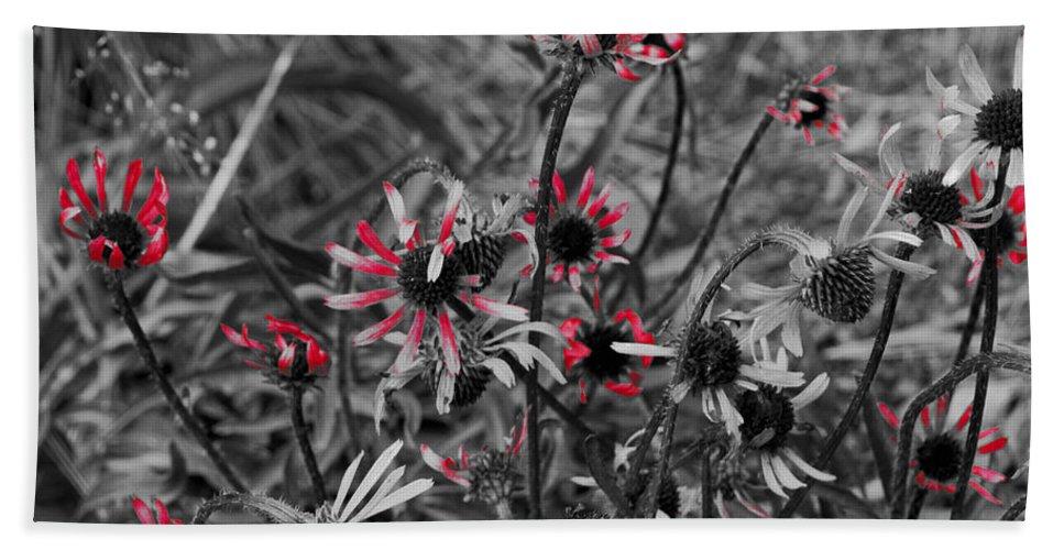 Fall Bath Sheet featuring the photograph Red Streaks by Deborah Crew-Johnson