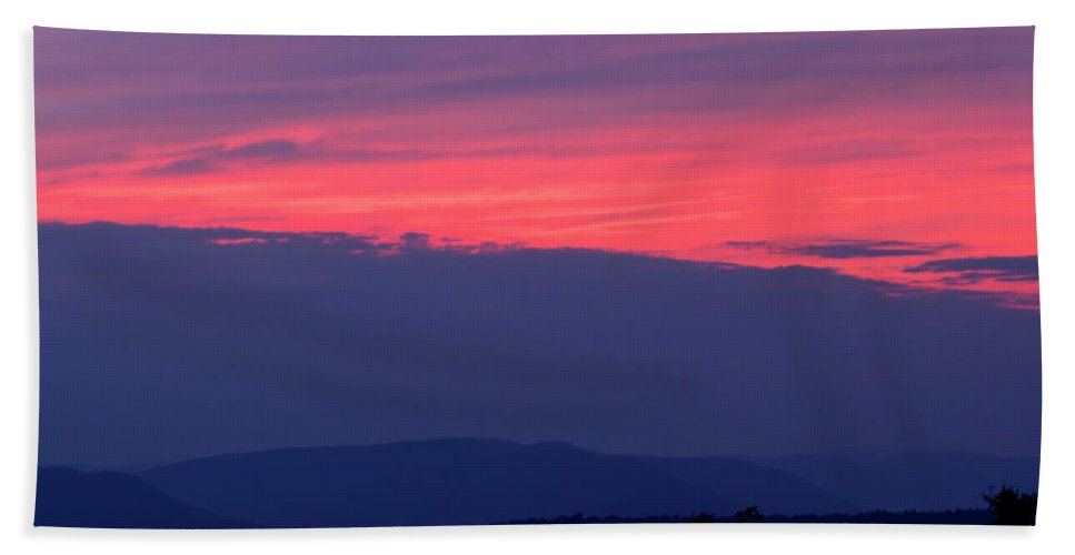 Sunset Bath Sheet featuring the photograph Red Sunset by Marvin Averett