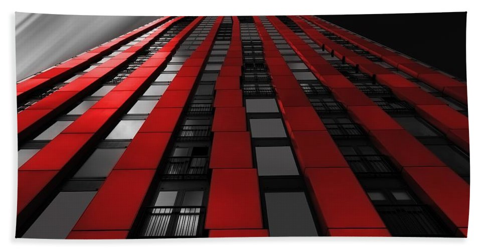 Red Bath Sheet featuring the photograph Red To The Sky by Billy Soden