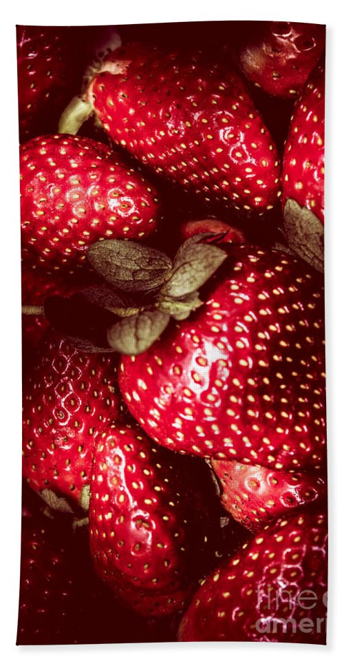 Baking Bath Towel featuring the photograph Red Toned Strawberries by Jorgo Photography - Wall Art Gallery