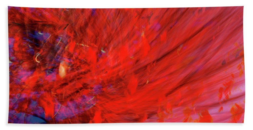 Red Hand Towel featuring the digital art Red Wind by Guy Crittenden