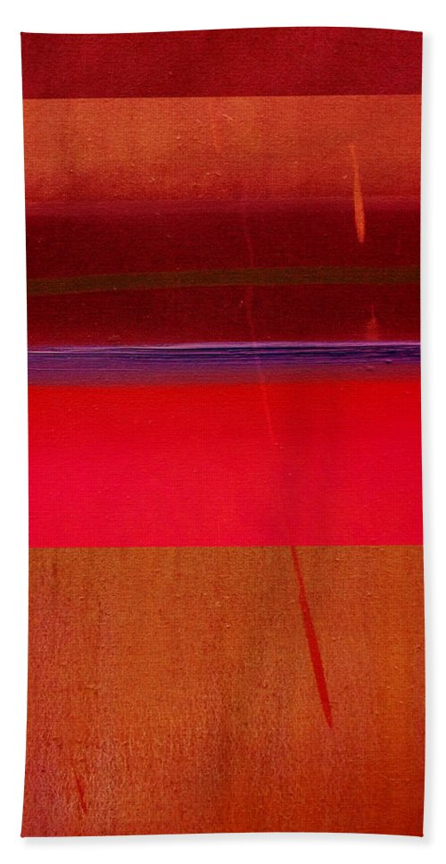 Landscape Bath Towel featuring the painting Redscape by Charles Stuart