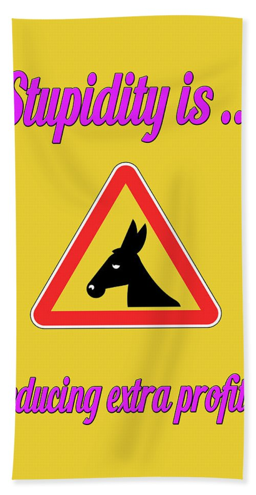 Funny Bath Sheet featuring the digital art Reducing Bigstock Donkey 171252860 by Mitchell Watrous
