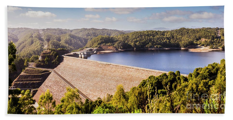 Reece Dam Hand Towel featuring the photograph Reece Dam, Western Tasmania by Jorgo Photography - Wall Art Gallery