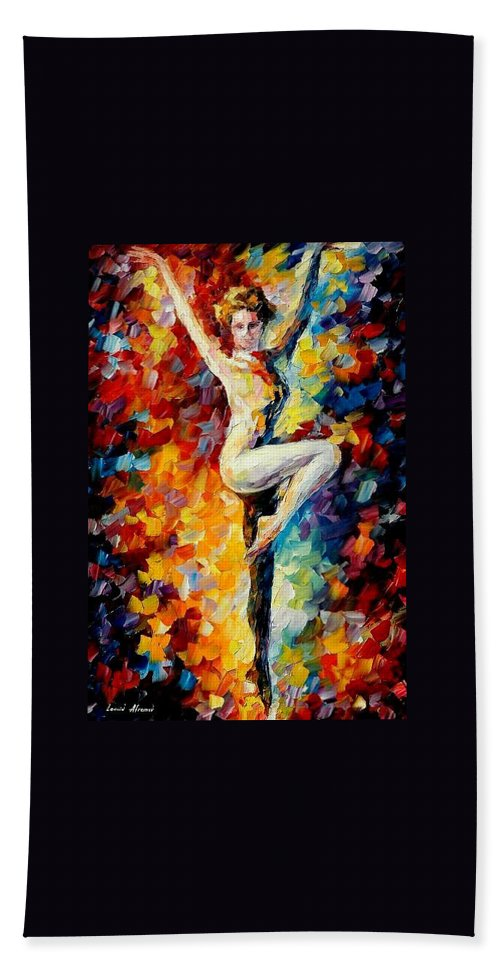 Painting Bath Sheet featuring the painting Refinement by Leonid Afremov