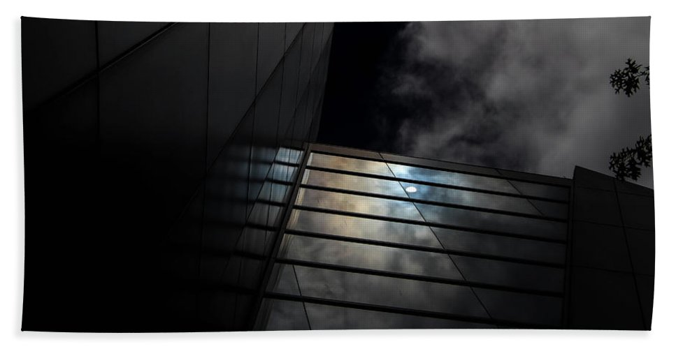 Ominous Bath Sheet featuring the digital art Reflected Clouds by Kathleen Illes
