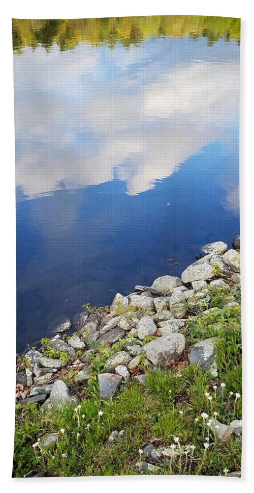 Lake Hand Towel featuring the photograph Reflection by Jo Stone