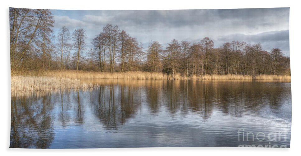 Germany Hand Towel featuring the photograph Reflection by MSVRVisual Rawshutterbug