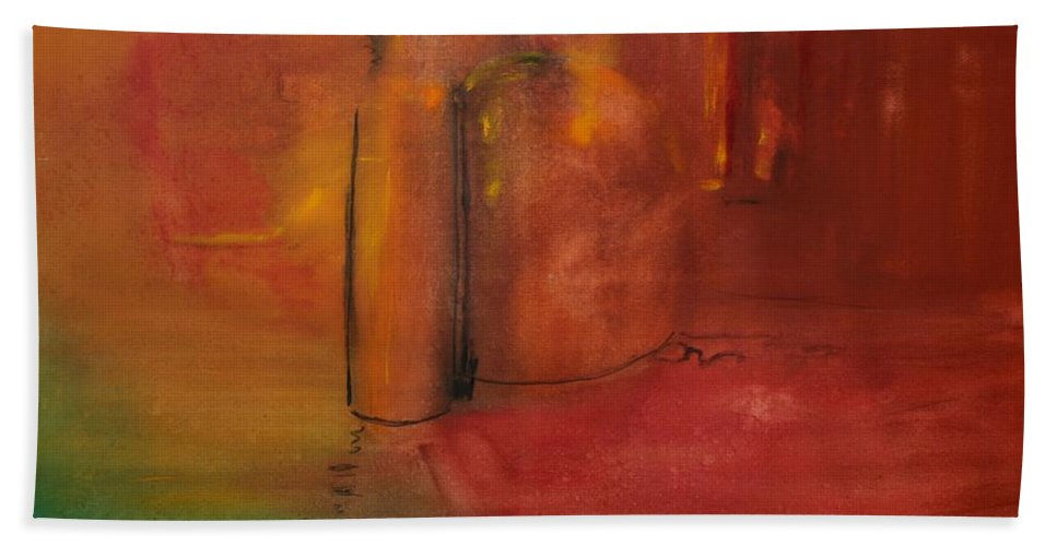 Still Bath Sheet featuring the painting Reflection Of Still Life by Jack Diamond