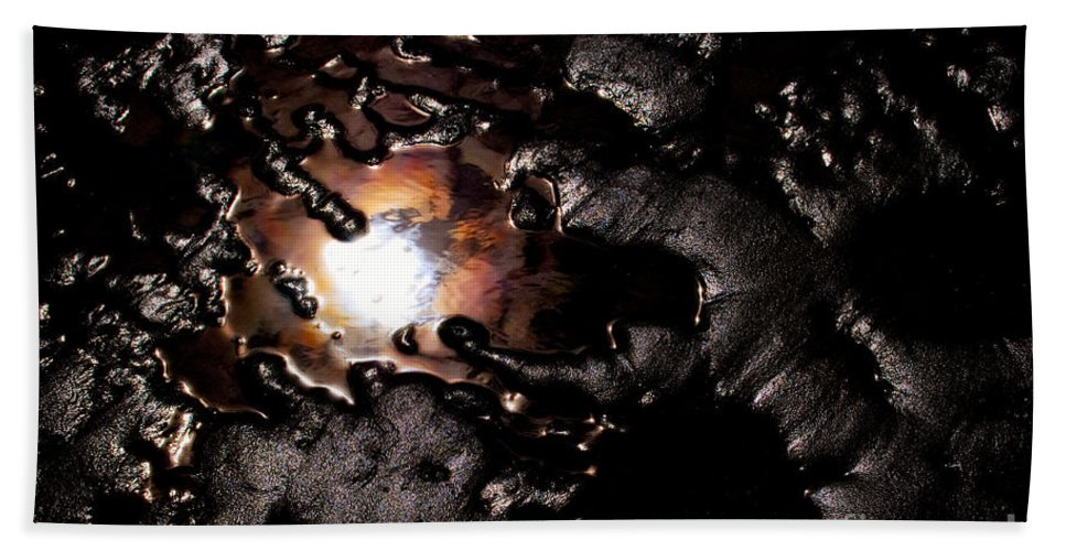 Beauty In Nature Hand Towel featuring the photograph Reflection Of The Sun by Venetta Archer