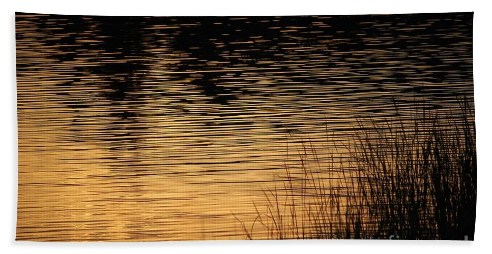 Digital Photo Hand Towel featuring the photograph Reflection On A Sunset by David Lane