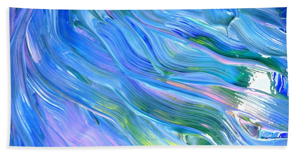 Blue Bath Sheet featuring the painting Ribbons by Fred Wilson