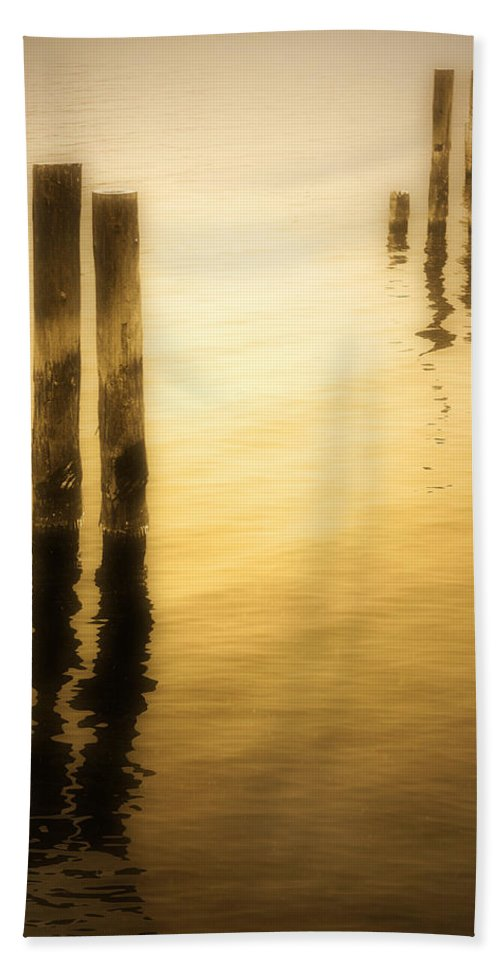 Reflections Hand Towel featuring the photograph Reflections In Gold by Tara Turner
