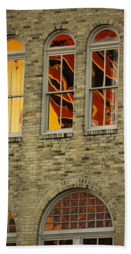 Urban Bath Sheet featuring the photograph Reflections by Jill Reger