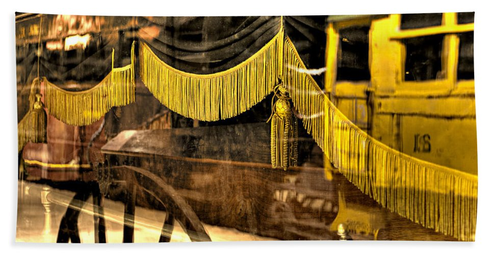 Train Hand Towel featuring the photograph Reflections Of Death by Scott Wyatt
