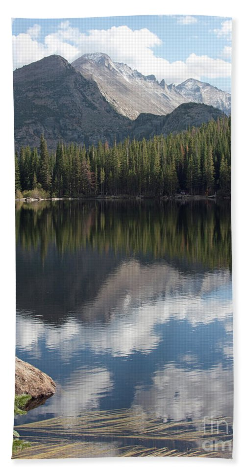 Scenery Hand Towel featuring the photograph Reflections Of Majestic Mountains by Greg Plamp