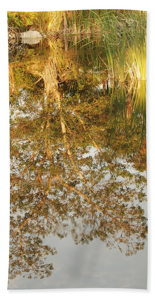 Sunsets Hand Towel featuring the photograph Reflections Of Old Miss by Rob Hans