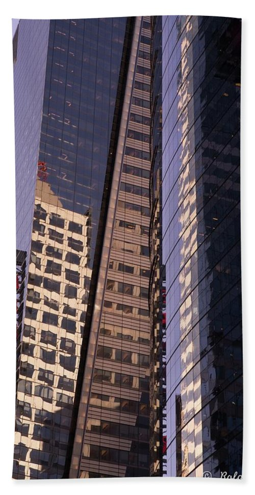 Reflections Hand Towel featuring the photograph Reflections Off The Buildings by Roland Hall
