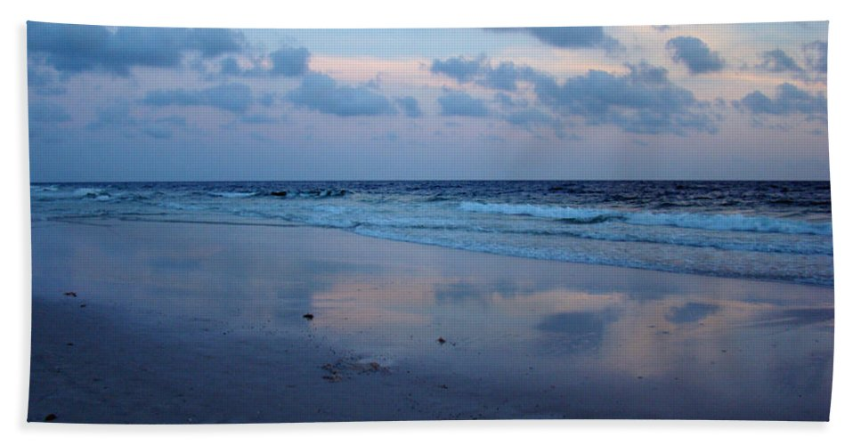 Panama City Beach Bath Sheet featuring the photograph Reflections by Sandy Keeton