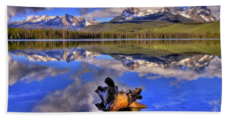 Rocky Mountains Hand Towel featuring the photograph Reflections by Scott Mahon