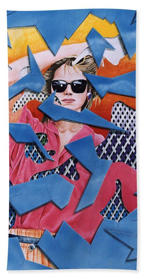 Woman Bath Sheet featuring the drawing Reflections by Shaun McNicholas