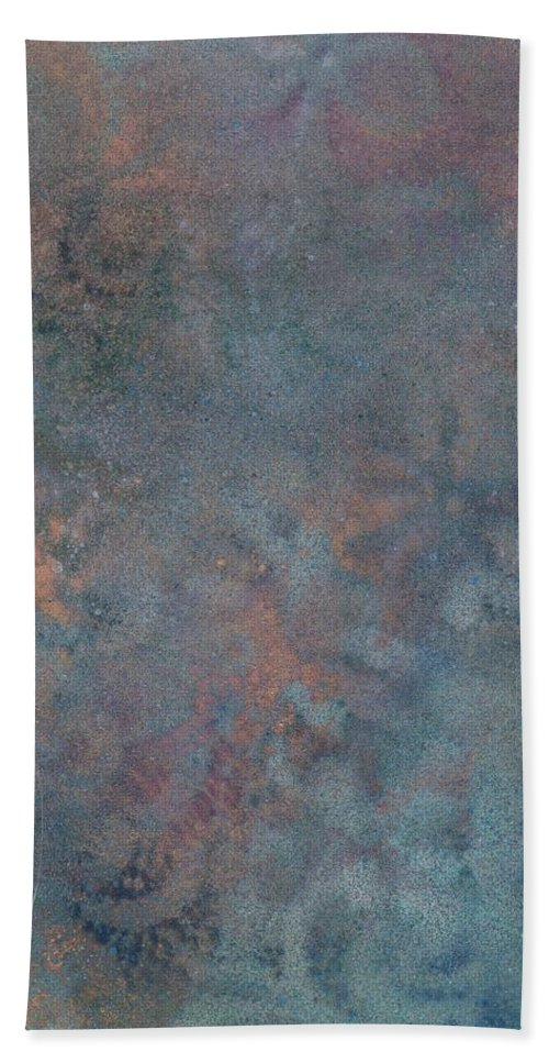 Flowers Bath Sheet featuring the painting Reflections11 by Mandy Henninger christophel