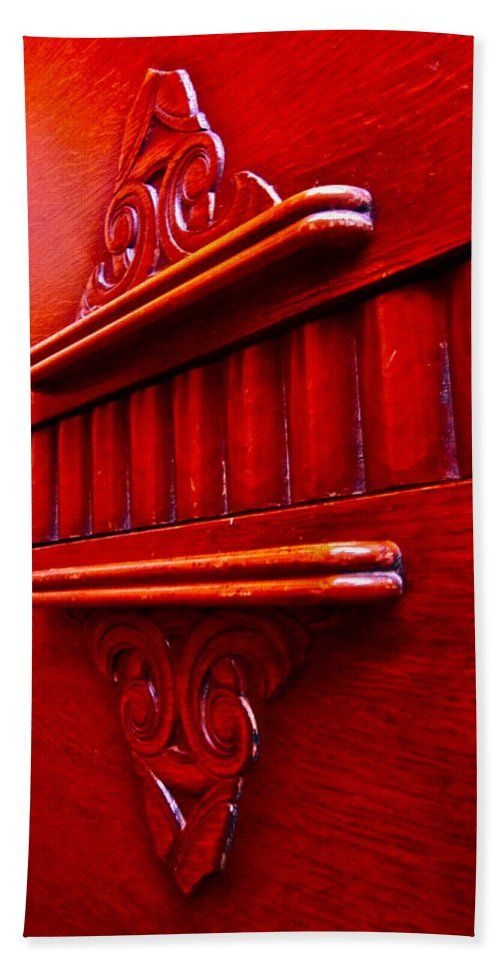 Photograph Of Credenza Bath Sheet featuring the photograph Regally Red by Gwyn Newcombe