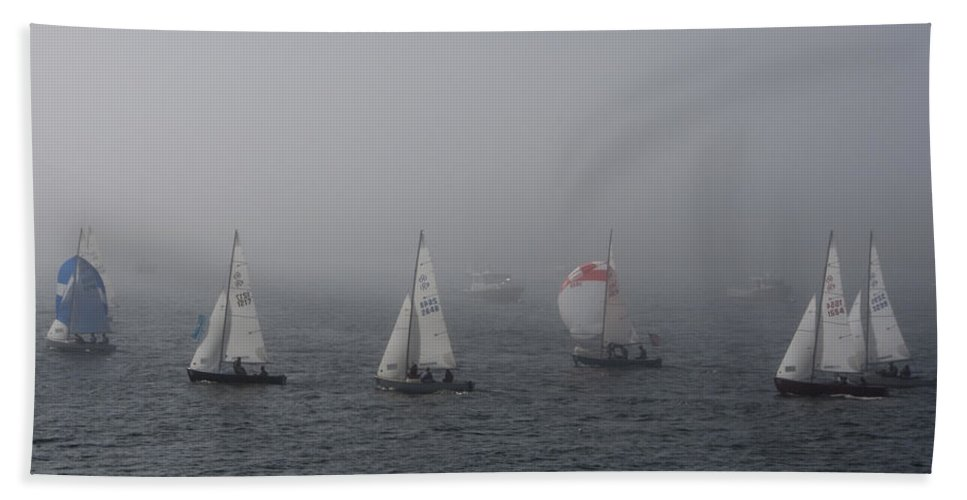 Boat Bath Sheet featuring the photograph Regatta by Steven Natanson