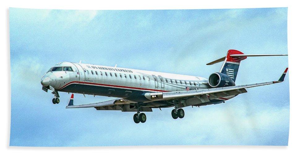 Regional Jet Hand Towel featuring the digital art Regional Jet by Gerald Voigt