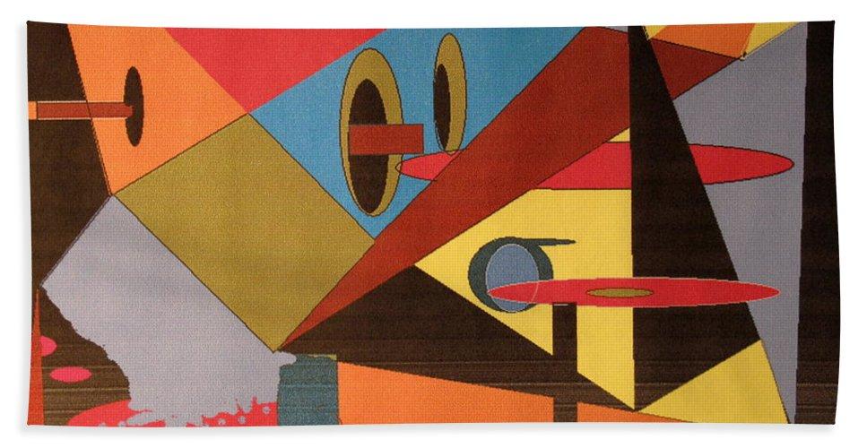 Abstract Bath Sheet featuring the digital art Regret by Ian MacDonald