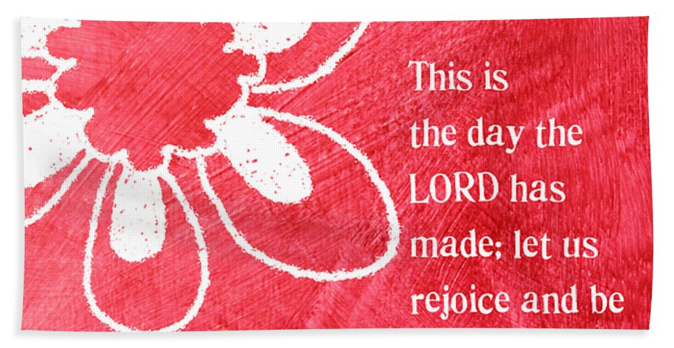 Lord Bath Sheet featuring the mixed media Rejoice by Linda Woods