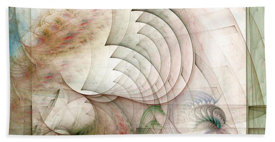 Fractal Bath Sheet featuring the digital art Rekindled by Casey Kotas