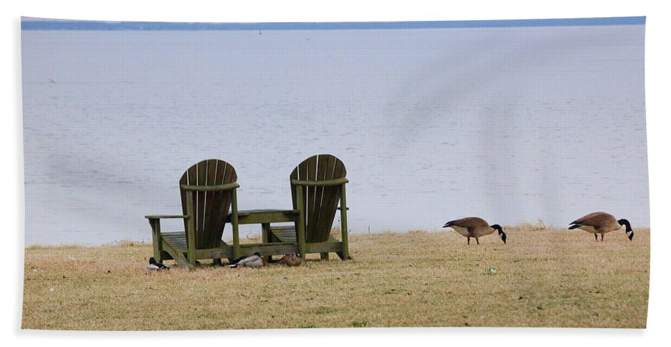 Chairs Bath Sheet featuring the photograph Relax by Debbi Granruth