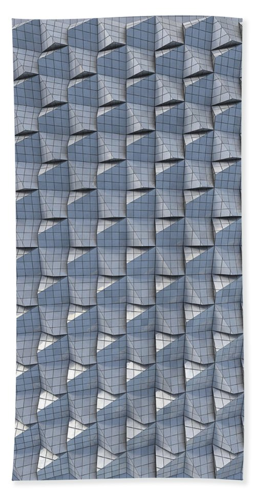 Relief Hand Towel featuring the digital art Relief F2 Bathroom Tiles by Frans Blok