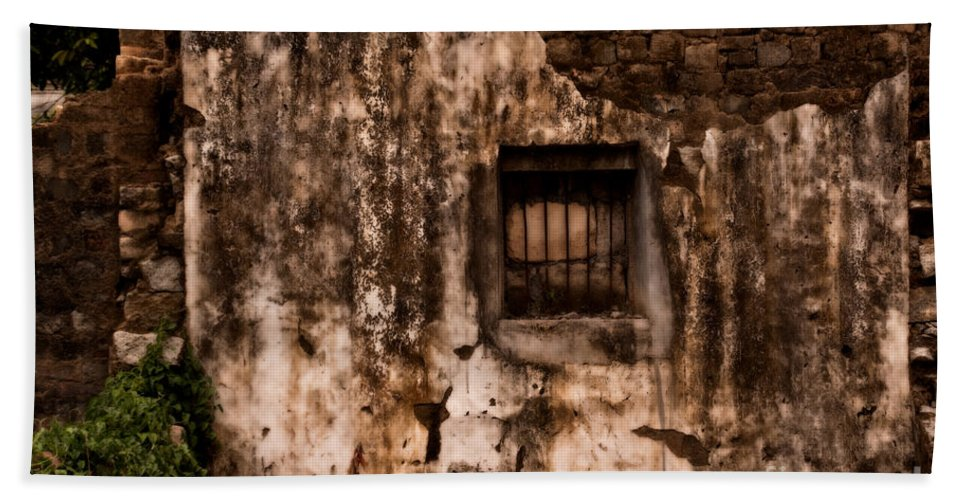 Abandoned Bath Sheet featuring the photograph Remaining Ruins by Venetta Archer