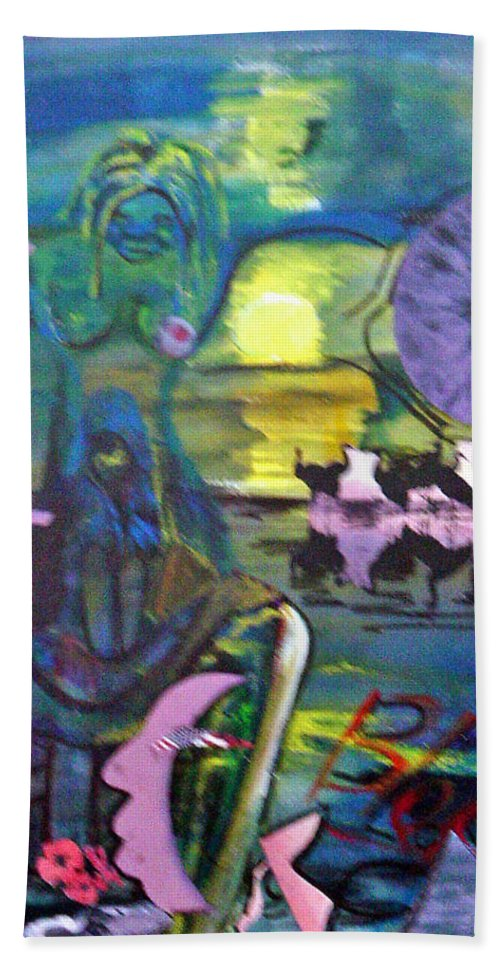 Water Hand Towel featuring the painting Remembering 9-11 by Peggy Blood