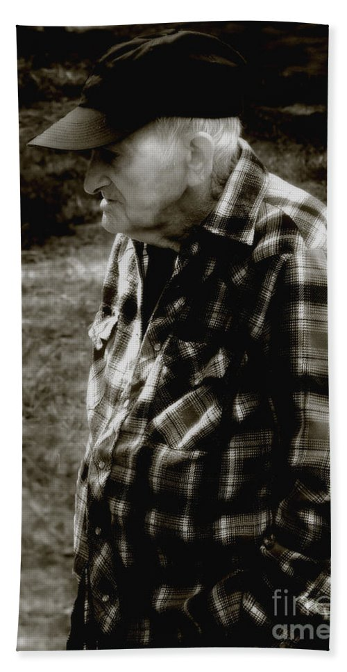 Farmer Bath Towel featuring the photograph Remembering Hard Times by RC DeWinter
