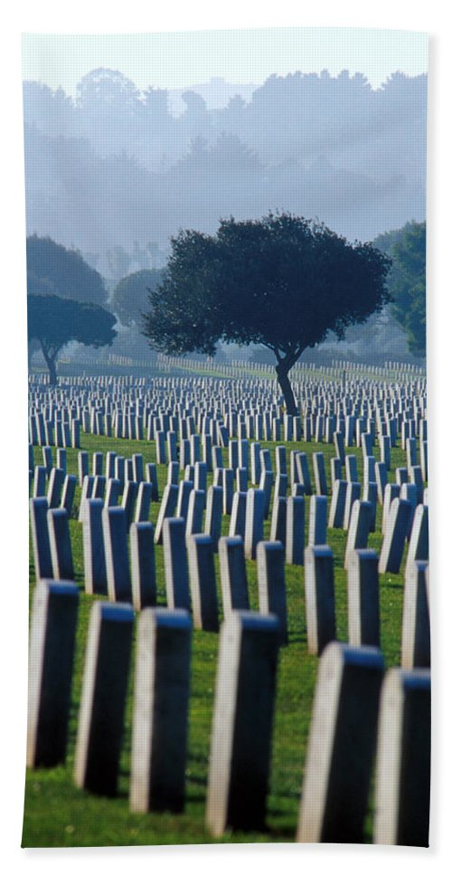 National Cemetery Bath Sheet featuring the photograph Remembering Walt Bem by Jerry McElroy