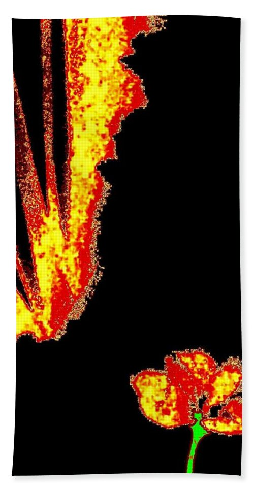 Abstract Hand Towel featuring the digital art Reminiscence by Will Borden