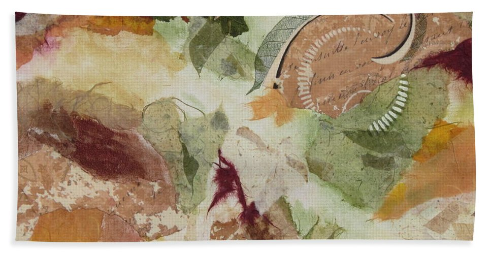 Collage Bath Sheet featuring the painting Renaissance by Deborah Ronglien