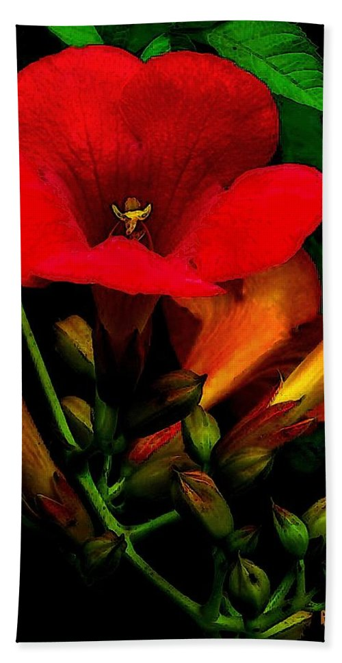 Flowers Hand Towel featuring the painting Renaissance by RC DeWinter